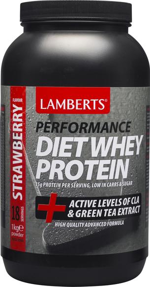 Lamberts Diet Whey Protein Strawberry Flavour  1Kgr Powder