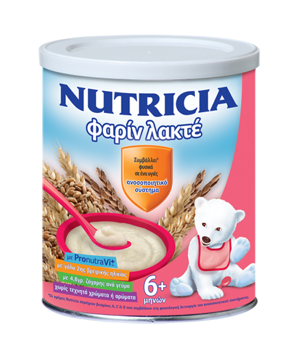 Nutricia Φαρίν Λακτέ, Βρεφική κρέμα 6 μηνών+ , 300gr