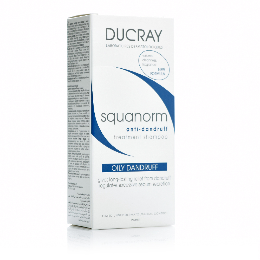 Ducray Squanorm Oily Dandruff Shampoo, Σαμπουάν για Λιπαρή Πιτυρίδα 200ml