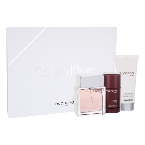Calvin Klein Euphoria Man Eau de Toilette 100ml, After Shave Balm 100ml & Deodorant Stick 75ml
