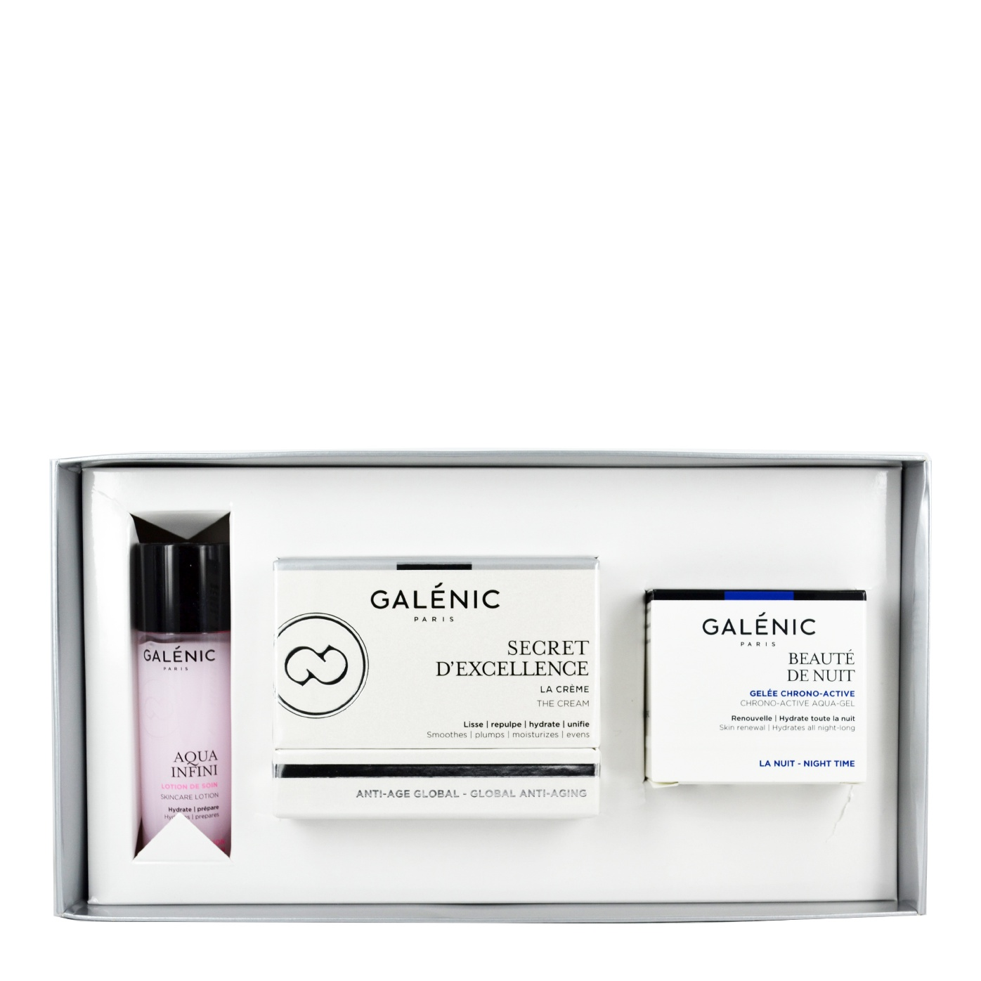 Galenic Promo Secret D'Excellence 50ml & Beaute de Nuit 15ml & Aqua Infini 40ml