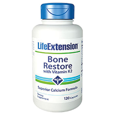 Life Extension Bone Restore With Vitamin K2, 120 Κάψουλες