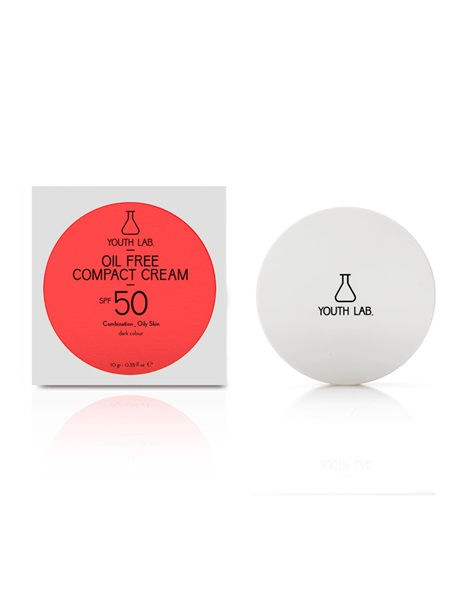 Youth Lab Oil Free Compact Cream Spf 50 Combination Oily Skin-dark color, Αντιηλιακή Compact & Bronze, Ματ Τελείωμα 10gr