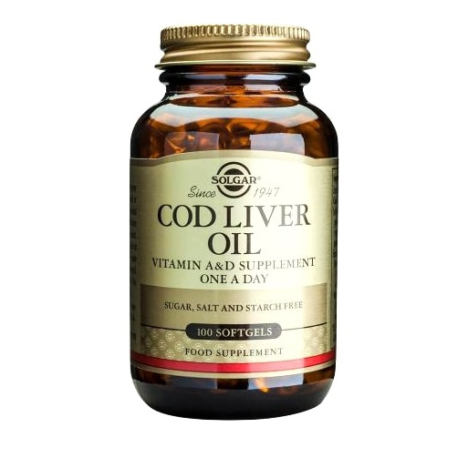 Solgar Cod Liver Oil Vitamin A & D 100 Softgels