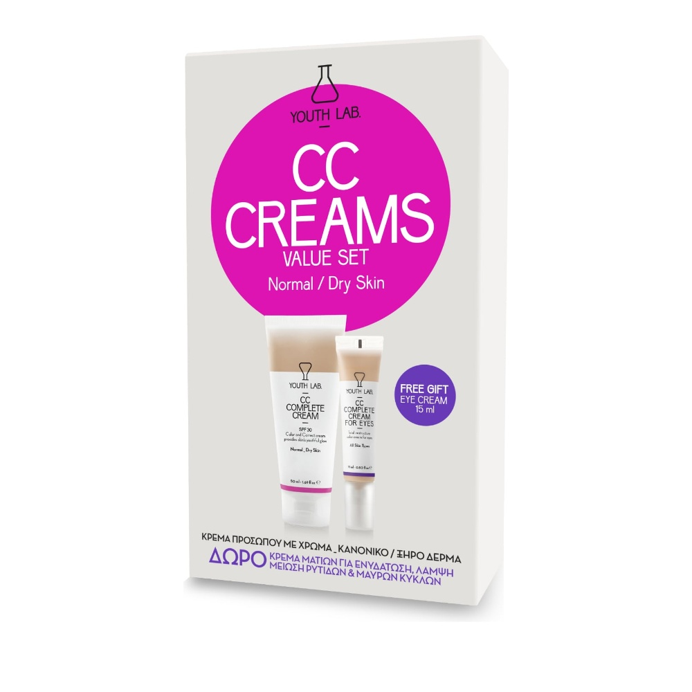 Youth Lab CC Complete Cream SPF30 Normal/Dry 50ml & CC Complete Cream for Eyes 15ml