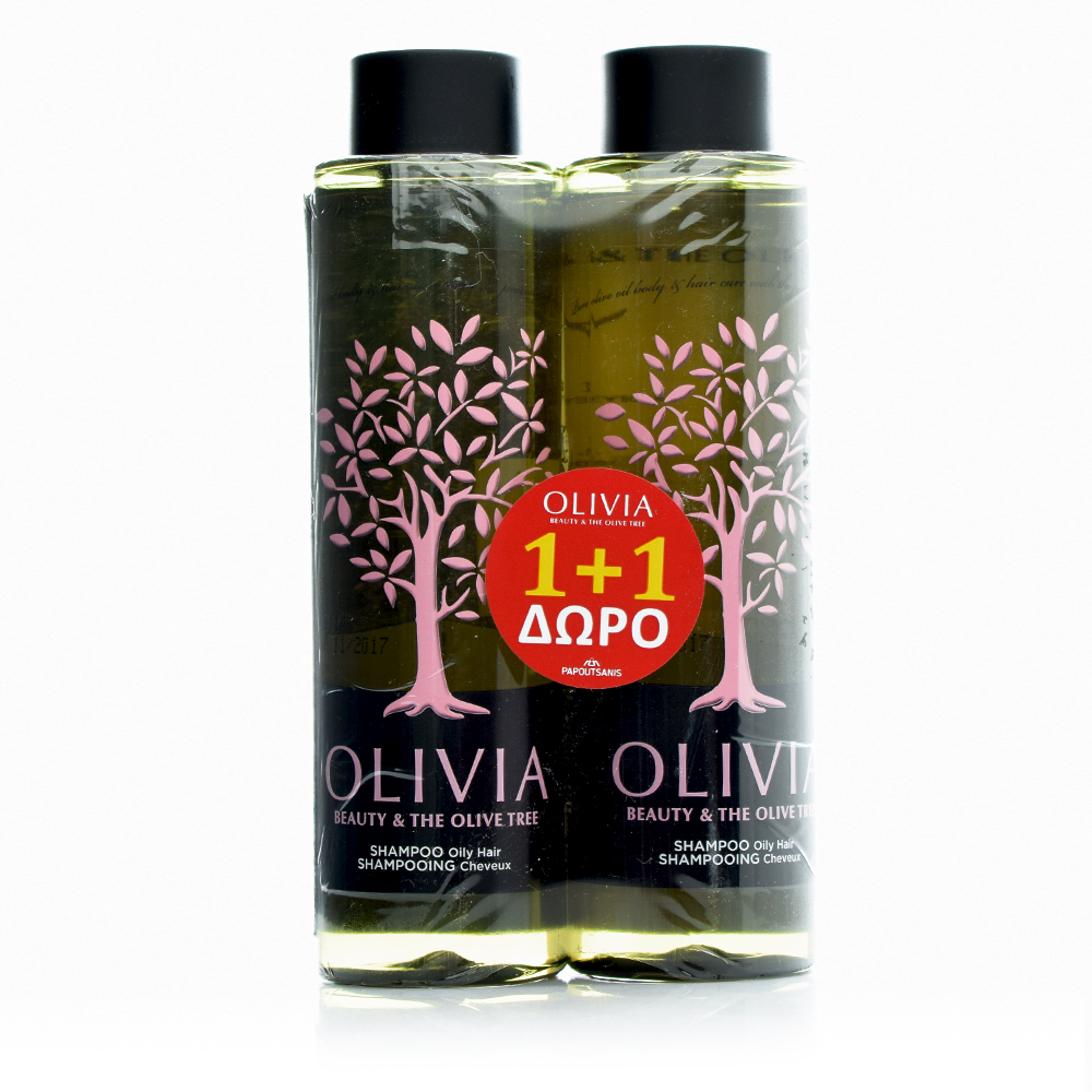 Olivia H/S Oily  Gift Set, Σαμπουάν για Λιπαρά Μαλλιά 2x300ml