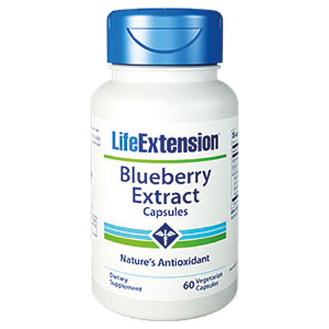 Life Extension Blueberry Extract With Pomegranate, 60 Κάψουλες