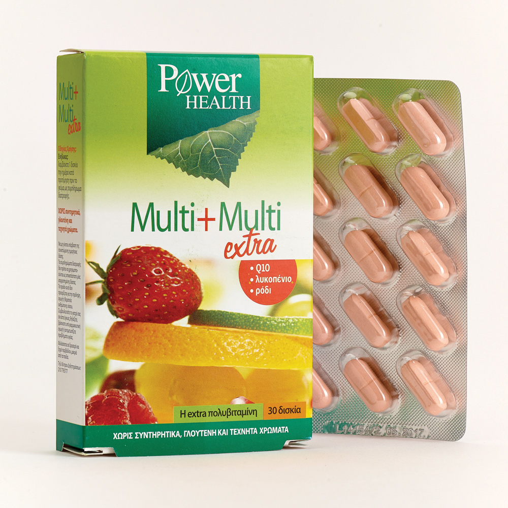 Power Health Multi + Multi Extra, Πολυβιταμίνες 30 Capsules