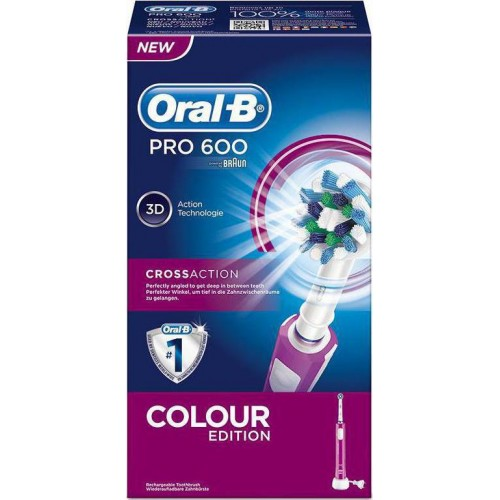 Oral - B PRO 600 Cross Action - Colour Edition Ροζ 1 τμχ