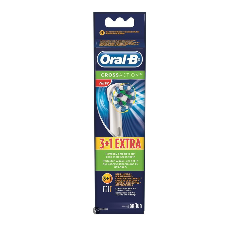 Oral-B Cross Action Brush Heads 3+1 Δώρο, 4 τμχ