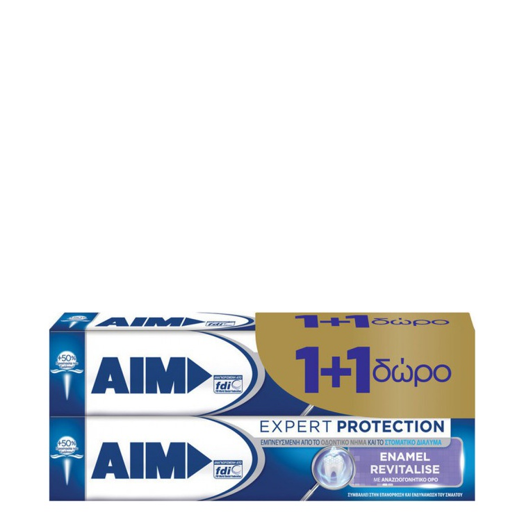 AIM Expert Protection Enamel, Οδοντόκρεμα 2x75ml