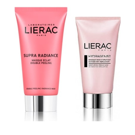 Lierac Promo Supra Radiance Double Peeling Radiance Mask 75ml & ΔΩΡΟ Hydragenist Masque Sos Hydratant Oxygenant Repulpant 75ml