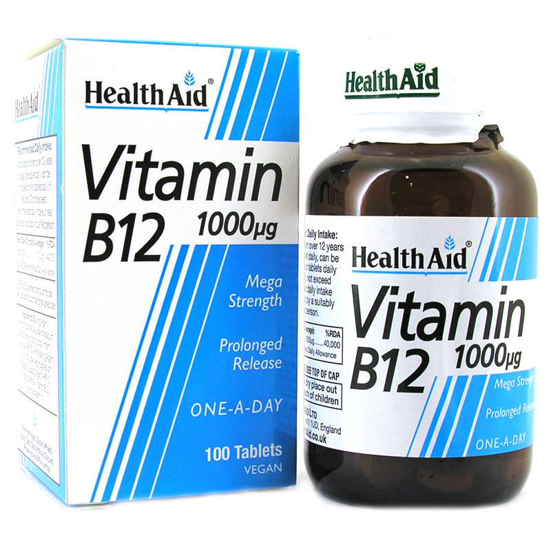 Health Aid Vitamin B12, 1000mg 100Tabs