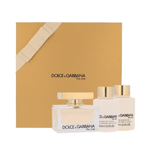 Dolce & Gabbana The One Women EDP 75ml & Body Lotion 100ml & Shower Gel 100ml