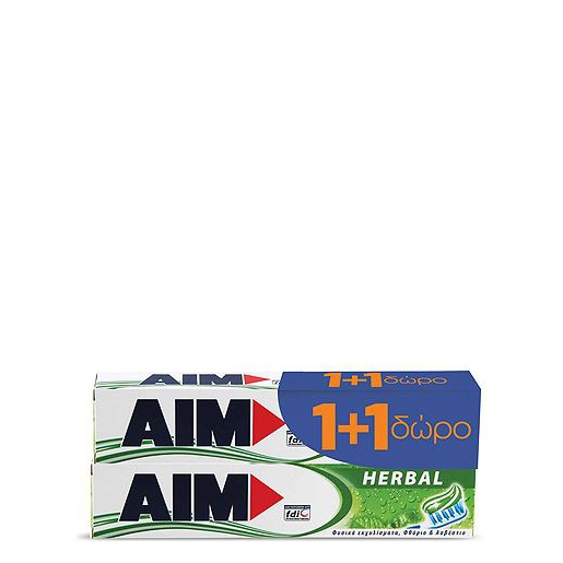 Aim Family Protection Herbal Toothpaste Οδοντόκρεμα 75ml 1+1 ΔΩΡΟ