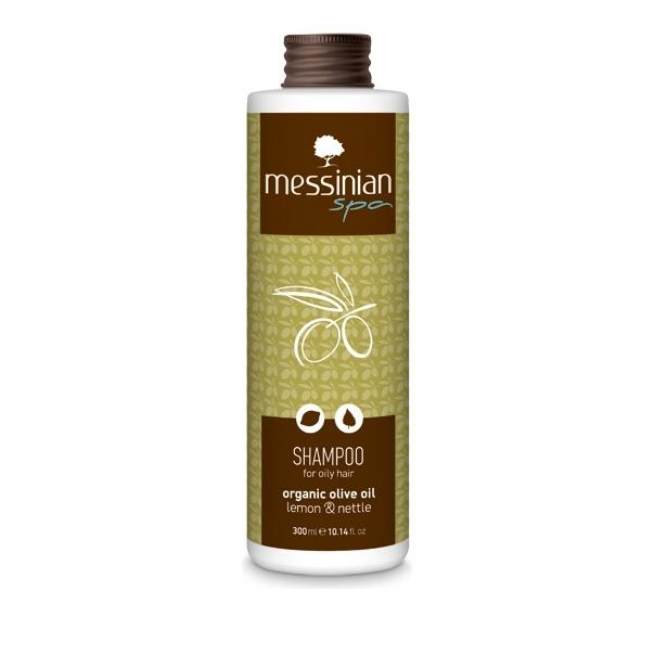 Messinian Spa Shampoo Oily Lemon-Nettle Λιπαρά Μαλλιά (Λεμόνι-Τσουκνίδα) 300ml