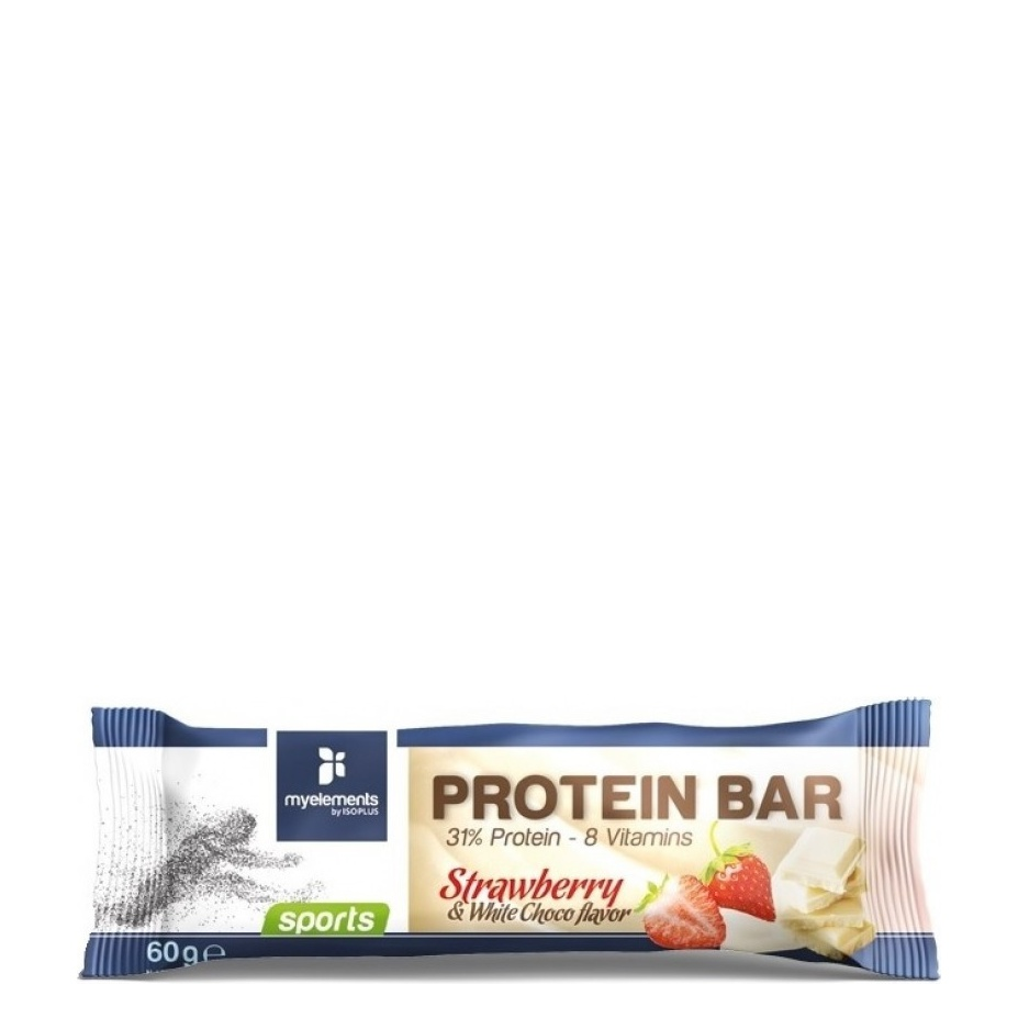 My Elements Sports Protein Bar Strawberry & White Choco Flavor 60gr