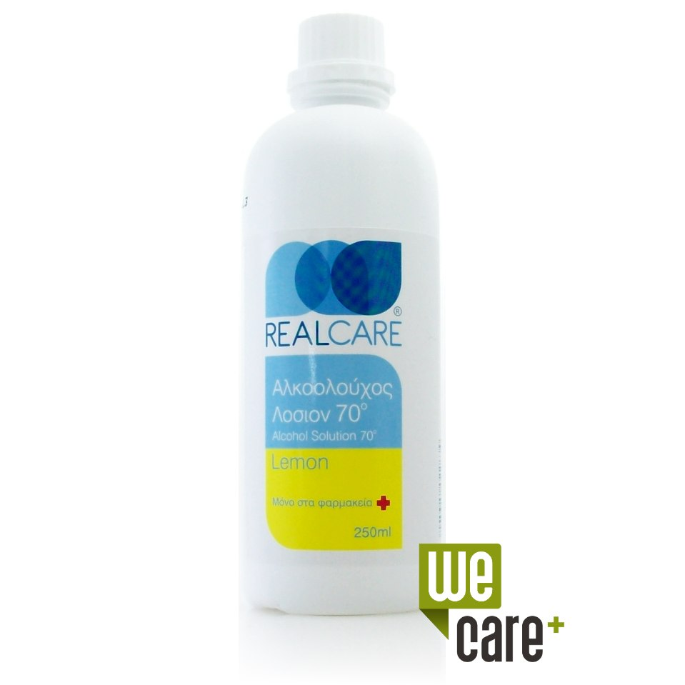 Real Care Οινόπνευμα Alcohol lotion 70° Λεμόνι 250ml
