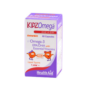 Health Aid Kidzomega Chewable Omega 3, 60caps