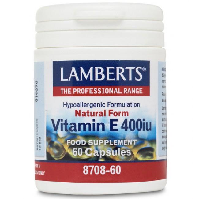 Lamberts Vitamin E 400iu Natural Form, 60 Caps