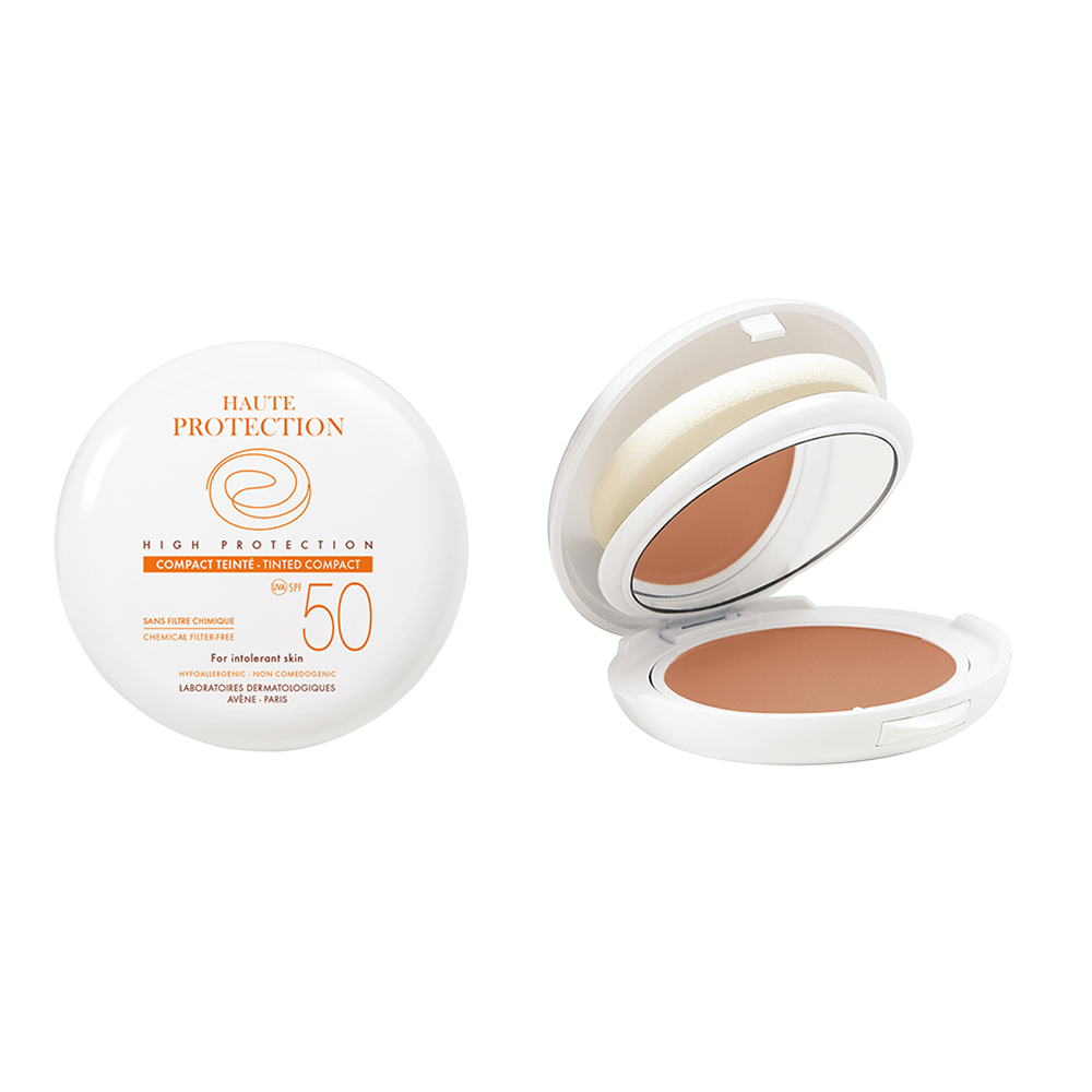 Avene Soins Solaires Compact Teinté SPF50+ Sable, Αντιηλιακό Make-up 10gr