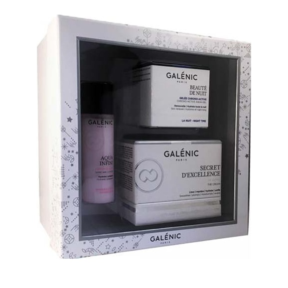 Galenic Promo Beaute De Nuit 15ml, Aqua Infini Lotion 40ml & Secret D' Excellence 50ml