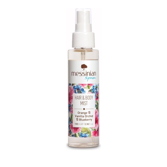 Messinian Spa Hair & Body Mist Οrange-Vanilla-Blueberry (Πορτοκάλι-Βανίλια-Μύρτιλο) 100ml
