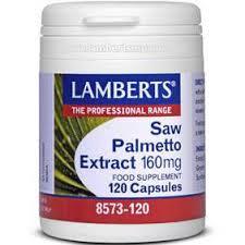Lamberts Saw Palmetto Extract, Καλή Υγεία του Προστάτη & Γυναικείων Ορμονών 160mg 120caps