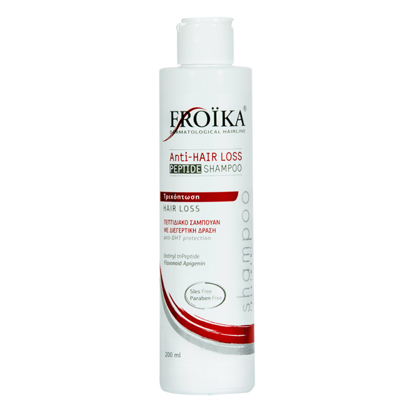 Froika, Anti-Hair Loss Peptide Shampoo, Σαμπουάν Κατά της Τριχόπτωσης-Λεπτά, Αδύναμα Μαλλιά, 200ml