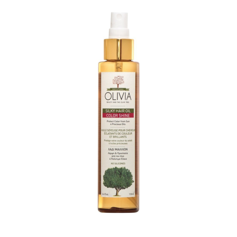 Olivia Silky Hair Oil Color Shine Ενυδατικό Θρεπτικό Λάδι για Βαμμένα Μαλλιά 130ml