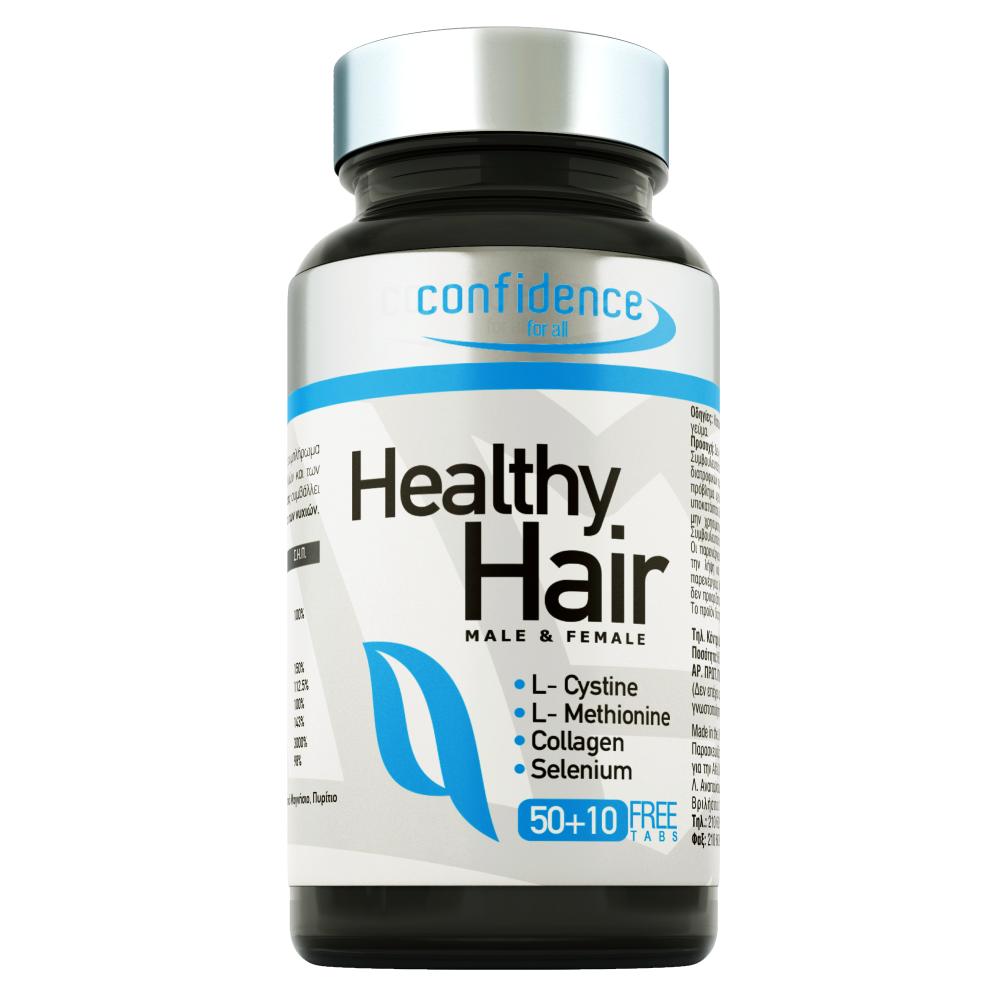 Alfa Choice Confidence Healthy Hair, για τον Έλεγχο της Τριχόπτωσης, 60 tabs (50+10 δώρο)