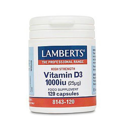 LAMBERTS VITAMIN D3 1000IU/25μg, 120 caps