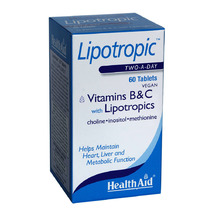 Health Aid Lipotropic Vitamins B&C with Lipotropics 60tabs