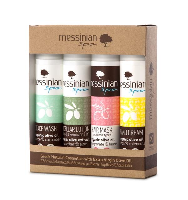 Messinian Spa Travel Kit No.2 (Face Wash, Micellar Lotion, Hair Mask,Hand Cream: 4x55ml)