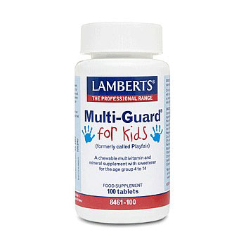 Lamberts Multi Guard For Kids Πολυβιταμινούχα Φόρμουλα για Παιδιά 4-14 Ετών 100 Tablets