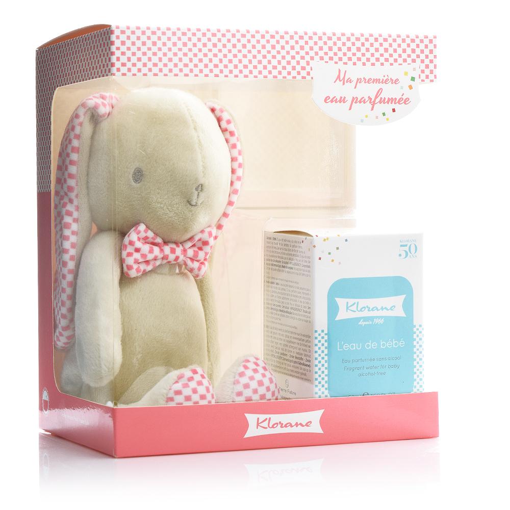 Klorane Promo L'Eau De Bebe Eau Perfume - Άρωμα για Βρέφη/Μωρά 50ml & ΔΩΡΟ Κουνελάκι Ροζ