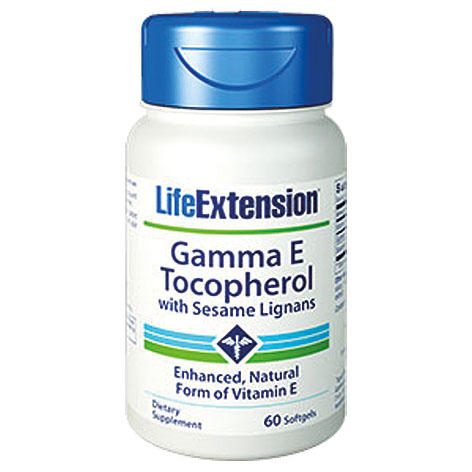 Life Extension Gamma Ε Tocopherol With Sesame Lignans, 60 Μαλακές Κάψουλες