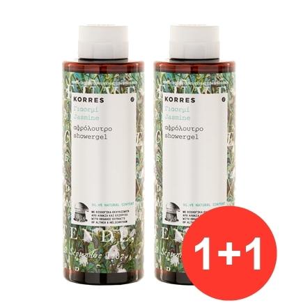 Korres Set Αφρόλουτρο  Γιασεμί με μεθυστικό άρωμα από άνθη γιασεμιού, 1+1 Δώρο, 250ml