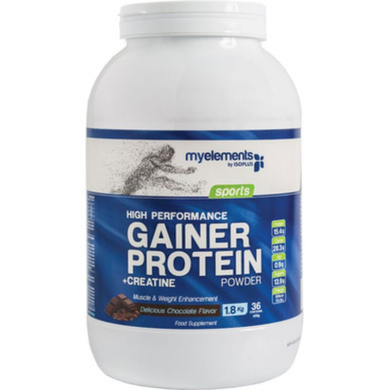 My Elements High Performance Gainer Protein Chocolate Πρωτεΐνη για Ενίσχυση Όγκου (Σοκολάτα) 1,8Kg