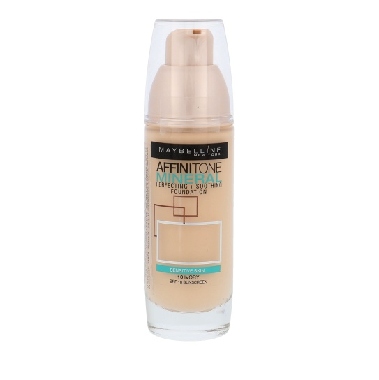 Maybelline Affinitone Mineral Foundation 10 Ivory SPF18 30ml
