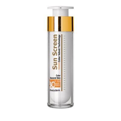 Frezyderm Sun Screen Color Velvet Face Cream SPF30+, UVA Με Χρώμα, 50ml