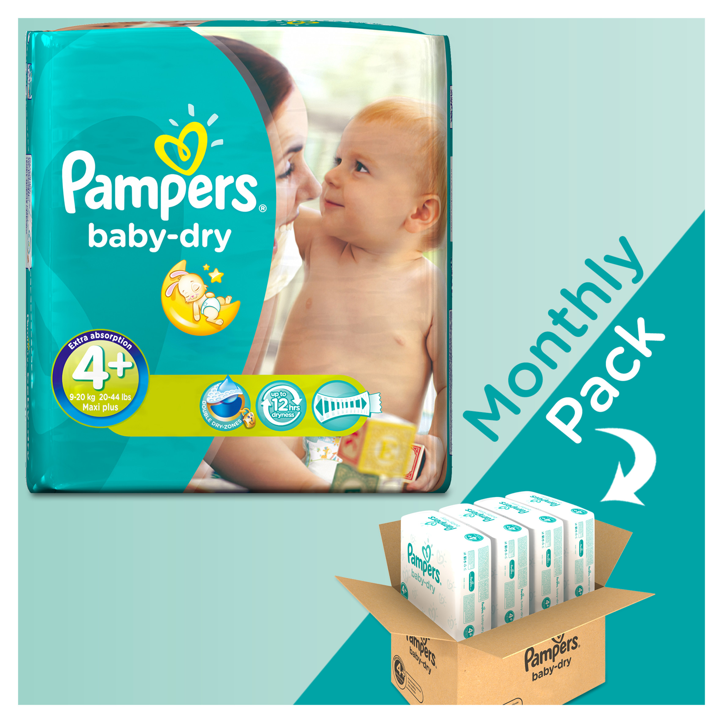 Pampers Monthly Pack Baby Dry Maxi Plus No4+ (9-20kg) 152τμχ ... e908161bfc8