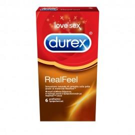 Durex RealFeel, Προφυλακτικά από Προηγμένο Υλικό χωρίς Λάτεξ για πιό Φυσική Αίσθηση 6 τμχ