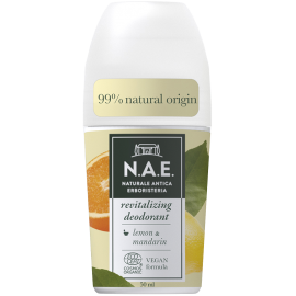N.A.E Αναζωογονιτικό Αποσμητικό Roll-on, Οργανική Πιστοποίηση COSMOS  & Vegan φόρμουλα, 50ml
