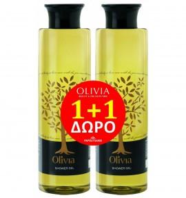 Olivia Limited Offer Gift Set, Αφρόλουτρο 1+1 με Εκχύλισμα Ελιάς, 2 X 300ml