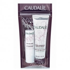 Caudalie Promo Hand and Nail Cream 30ml & Lip Conditioner 4.5g
