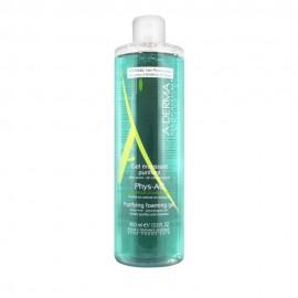 Α-Derma, Phys-AC Purifying Foaming Gel, Τζελ Καθαρισμού Προσώπου Για Επιδερμίδες Με Τάση Ακμής, 400ml -20%