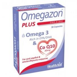 Health Aid - Omegazon Plus - Omega 3 & Co Q10, Υγιή Καρδιά & Απελευθέρωση Ενέργειας 30caps