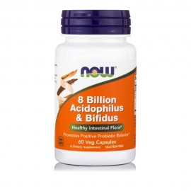 Now Foods Acidophilus & Bifidus 8 Billion 60 Veg Caps