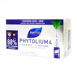 Phyto Phytolium 4 New, Αγωγή Κατά της Έντονης & Κληρονομικής Τριχόπτωσης 12 amp x 3,5 ml